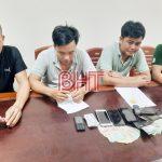 <span>Tạm giữ 4 đối tượng điều tra về hành vi đánh bạc tại Hà Tĩnh</span>
