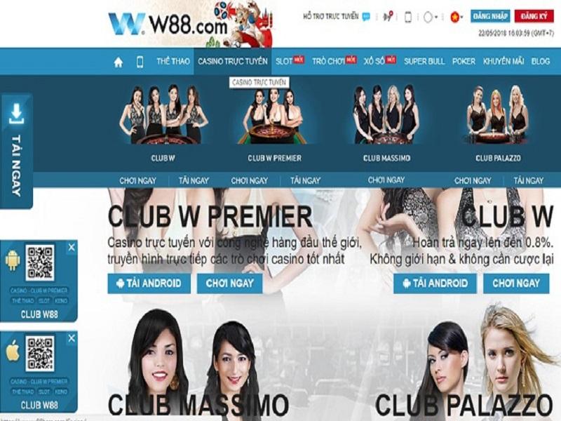 Cách chơi casino trực tuyến trên điện thoại tại nhà cái W88 được thực hiện như thế nào?