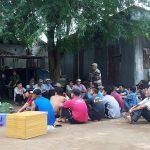 Đột kích trường gà tại An Giang, khống chế tại trận gần 40 đối tượng