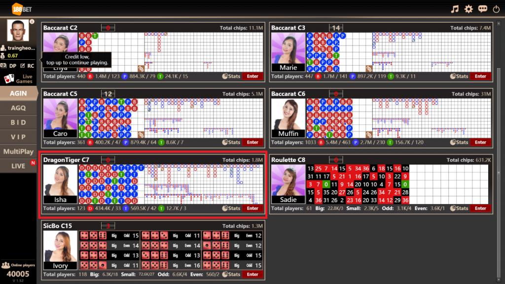 Tìm hiểu về cách chơi Rồng Hổ (Tiger & Dragon) online tại nhà cái uy tín 188Bet